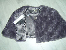 PER UNA FAUX FUR STOLE SHAWL SHRUG CAPE Sz L Vintage Style Choc Brown  BNWT