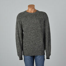 2XL 1980s Burberry Mens Gray Knit Wool Sweater Long Sleeve Pull Over 80s VTG