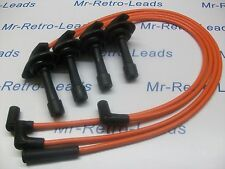 ORANGE 8MM IGNITION LEADS WILL FIT. SUBARU IMPREZA 2.0 TURBO WRX STi RA TYPE HT