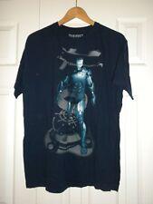 Mens XL T-shirt Tee Iron Man  blue short sleeve Marvel T-shirt