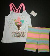 NWT Tommy Bahama Girl's 2 Pc Set Sequin Ice Cream Tank Top/Stripe Shorts S/5-6