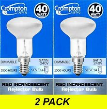 2 x 40W Incandescent R50 Reflector Light Globes Bulbs Screw E14 Dimmable SES