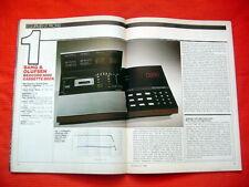 "Bang & Olufsen B&O Beocord 9000 cassette deck test review ""Audio"" magazine 7/82"