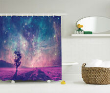 Galaxy and Lonely Tree NASA Furnished Elements Shower Curtain