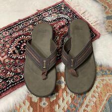 Clarks Flip Flop Sandals Comfort Brown Mens 13