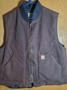Vintage Carhartt Vest  RN14806 Size XL Dark Brown