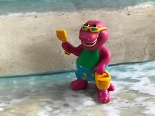 BARNEY AT THE BEACH THE DINOSAUR HTF CAKE TOPPER FIGURE  PLAY  OR DISPLAY