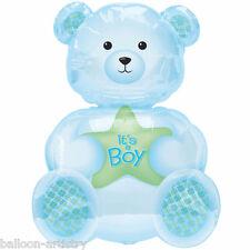 "24 ""blu IT'S A BOY Teddy Bear FOIL SUPERSHAPE NUMERO di riferimento"