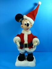 Telco Motionette Disney Christmas Decor Santa Mickey Mouse 18'' (Not Working)