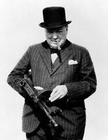 WW2 BRITSH WAR LEADER SIR WINSTON CHURCHILL 20X30 INCH LARGE FRAMED HD PAINT CA