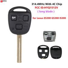 3 Buttons 314.4MHz 4C chip Remote Key for Lexus ES300 GS300 IS300 FCC:HYQ1512V