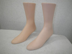 RPM INDUSTRIES Standing Mannequin Feet (2) Shoe/ Sock Display Forms-GOOD COND.
