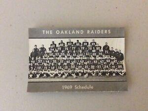 Oakland Raiders pocket schedule 1969  coach John Madden