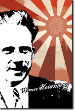 "WERNER HEISENBERG ""GOD IS WAITING"" ART PRINT PHOTO POSTER GIFT QUOTE PHYSICS"