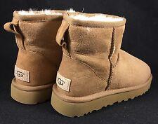 UGG Australia Classic Mini II Boots 1016222 Chestnut size 6 Suede Sheepskin