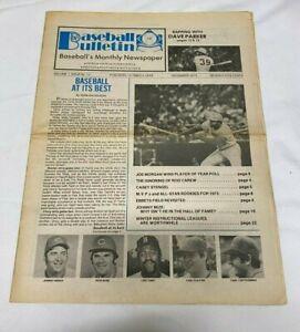 December 1975 Baseball Bulletin Newspaper---Joe Morgan---Pete Rose   VG