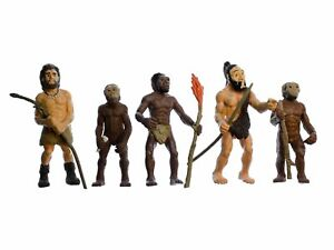 5x Evolution Des Men Figurines Installation Figures Miniblings Man Neanderthal