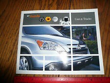 2007 Honda Accord Civic Element Fit S2000 CR-V Odyssey Sales Brochure