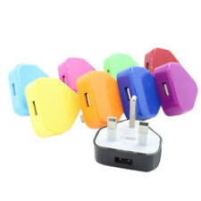 UK Mains Wall 3 Pin USB Plug Adapter Charger Power USB Port For Phones Ta_ws