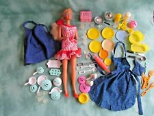 Vintage Barbie with Aprons & Kitchen Accessories