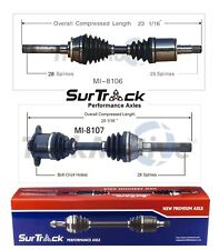 For Dodge Raider Mitsubishi Mighty Max 4WD Front CV Axle Shafts SurTrack Set