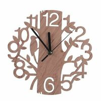 Wooden Wall Clock Living Room Home Office Art Watch Decoration Quartz Clocks New