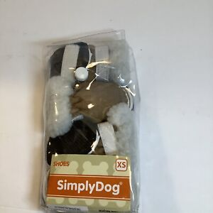 Simply Dog Small Dog Shoes Faux Suede Boots, New
