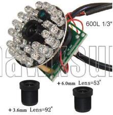 "600TVL CCTV Color Camera Board 1/3"" CMOS with Infared + 3.6 & 6.0mm Lens+IR IB63"