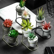 Small Metal Flower Pot Holder Succulent Plant Pots Stand Set Modern Garden Decor