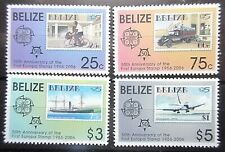 Belize 2006 50th Anniv of Europa Stamps Set. MNH