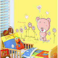 Wall Stickers:Cute Bear Wall art Vinyl Removable Decal Kids Room art Nursery
