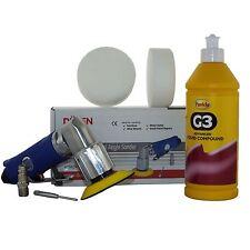 "75mm Mini Air Polisher Kit (3"") + 500ml Farecla G3 & 2 Compounding Foam Heads"