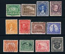 More details for guatemala 1929 de la rue pictorials o/fu sg 227-38