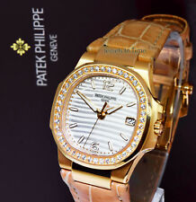 Patek Philippe Ladies Nautilus 18k Rose Gold & Diamond Watch NEW 2018 7010R