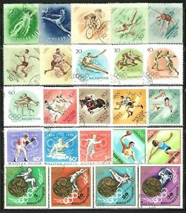 HUNGARY Sports, Games, and Olympics Stamps Lot of 66