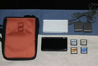 2 Nintendo DS Lite (White & Black) w/ 4 Games + Charger & Case (Please Read All)