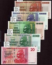 "Zimbabwe ""$100-Trillion Series"" (2008) 3Dw 5-Pc Unc Notes {pakimProPak} Va152b.3"