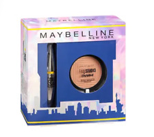 Maybelline Gift SET Mascara Colossal Platinum & Highlighter Master Chrome