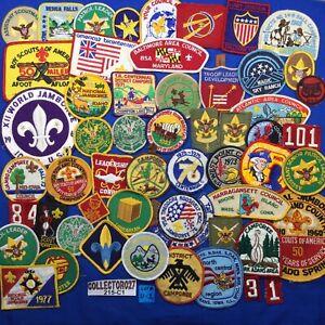 Boy Scout 50+ Mixed Lot Scout Patches Lot# U-1 Jamboree Rank CSP Region WSJ
