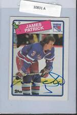 James Patrick 1988 Topps Autograph #69 Rangers