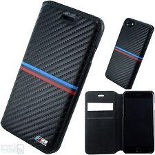 Bmw m Carbon look iPhone 7 celular cover Book, funda protectora, funda, protección bolsa Black