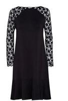 Jack Wills Werrington Star Lace Dress Black Ladies UK 8 *Ref104
