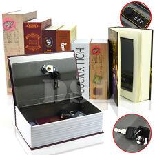 More details for homesafe real book safe key combination metal security money box 3 size 7 design