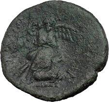 SYRACUSE in SICILYafter 212BC Nike Sacrifices Bull Athena Cult Greek Coin i37408