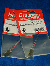lot 2 GRAUPNER 7016.63 adapterkabel JR-STECKER cable adaptateur KABEL adapter