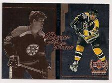 1999-2000 UD E2 Century Legends BOBBY ORR RAY BOURQUE Insert Boston Bruins Card