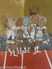 "Graciela Rodo Boulanger "" Tennis "" Original Etching Artwork S/N"