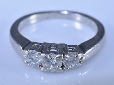 .50 ctw. Three Stone Diamond Engagement Ring 950 Platinum 6.1 Grams Size 6.25