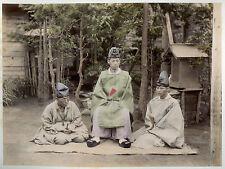 c1890, SHINTO buddhist priests, japan religion, original RARE albumen photograph