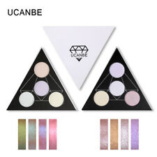 UCANBE 4 Colors Holographic Duochrome Eyeshadow Palette Makeup Eye Face Lips